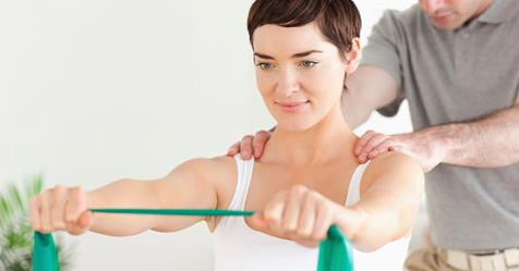 In the treatment of frozen shoulder syndrome patient performs specific exercises.