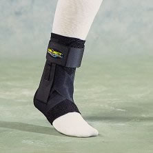 Fixing brace for ankle in the treatment of achilles tendon injuries (rupture, sprain).
