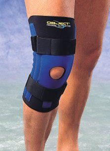 Special retainer (brace) for knee ligaments.