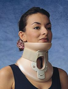 Using a cervical orthoses (Miami J, Philadelphia collar) in the treatment of cervicocranial syndrome with sprains and traumatized facet joints after the cervical spine injury.