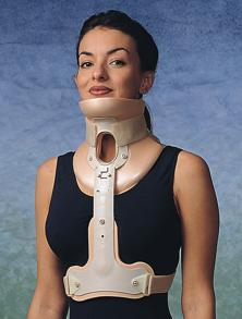 Wearing a cervical-thoracic orthoses (Minerva, SOMI) in the treatment of cervicocranial syndrome with sprains and the cervical facet joints injury after whiplash trauma.