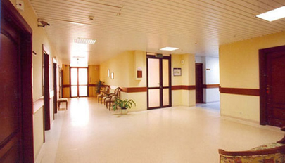 View of one of the floors in the hospital.